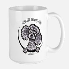 Gray Poodle IAAM Large Mug
