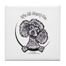 Gray Poodle IAAM Tile Coaster