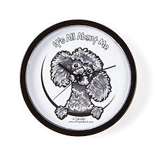 Gray Poodle IAAM Wall Clock