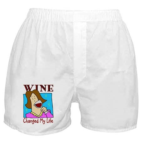 Wine, Changed my life Boxer Shorts