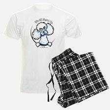 White Poodle IAAM Pajamas