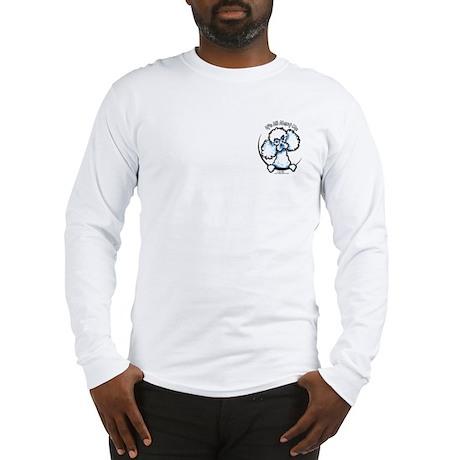 White Poodle IAAM Pocket Long Sleeve T-Shirt