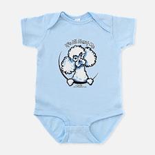 White Poodle IAAM Infant Bodysuit