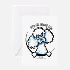 White Poodle IAAM Greeting Card