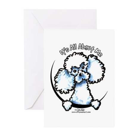 White Poodle IAAM Greeting Cards (Pk of 10)
