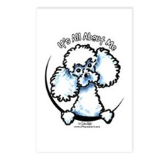 White Poodle IAAM Postcards (Package of 8)