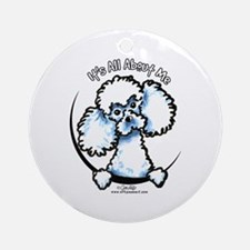White Poodle IAAM Ornament (Round)