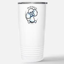 White Poodle IAAM Travel Mug