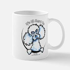 White Poodle IAAM Mug
