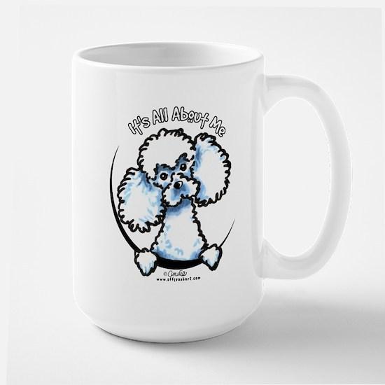 White Poodle IAAM Large Mug