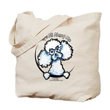 White Poodle IAAM Tote Bag
