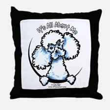 White Poodle IAAM Throw Pillow