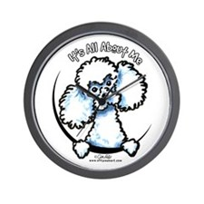 White Poodle IAAM Wall Clock