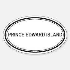 Prince Edward Island Euro Oval Decal