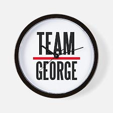 Team George Grey's Anatomy Wall Clock