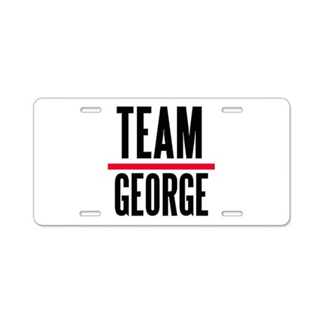 Team George Grey's Anatomy Aluminum License Plate