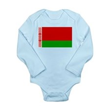 Belarus Flag Long Sleeve Infant Bodysuit