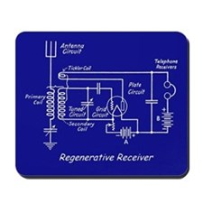 Regenerative Radio Mousepad - Blue