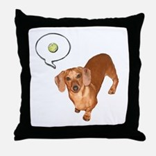 The Ball Dachshund Dog Throw Pillow