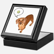 The Ball Dachshund Dog Keepsake Box