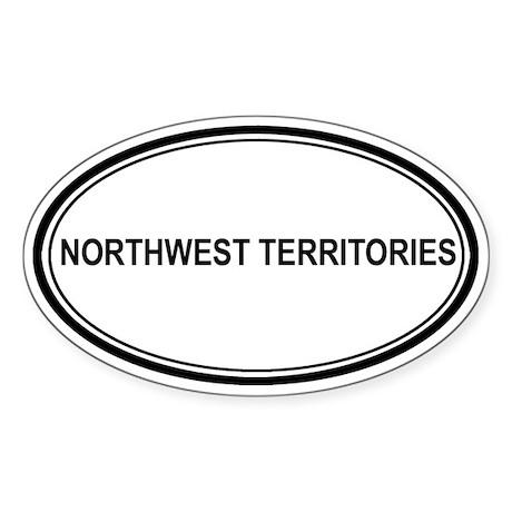 Northwest Territories Euro Oval Sticker
