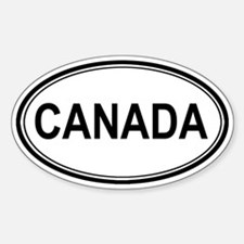 Canada Euro Oval Decal