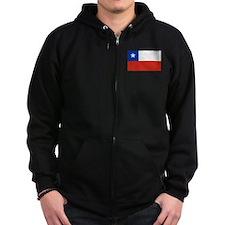 Chilean Flag Zip Hoodie