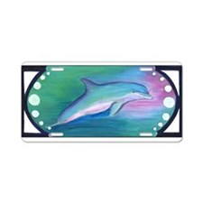 Art Deco Dolphin Aluminum License Plate