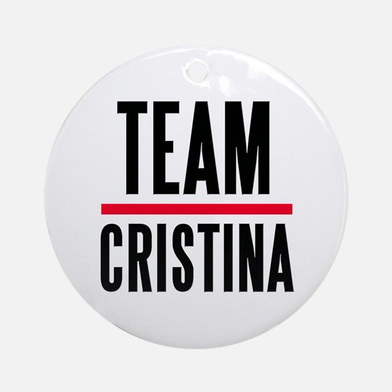 Team Christina Ornament (Round)