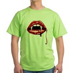 Vampire Fangs Green T-Shirt