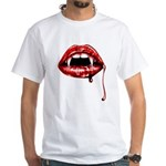 Vampire Fangs White T-Shirt