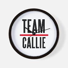 Team Callie Grey's Anatomy Wall Clock