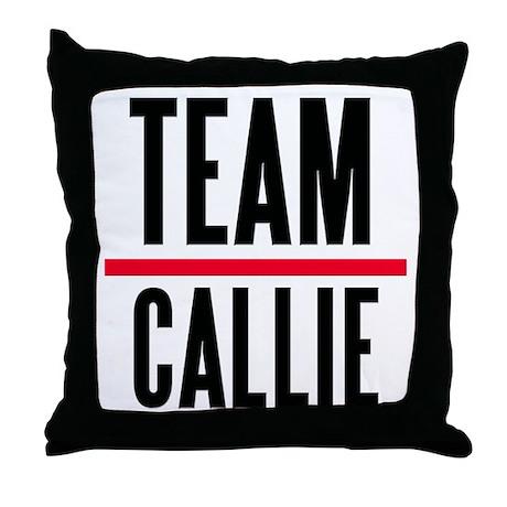 Team Callie Grey's Anatomy Throw Pillow