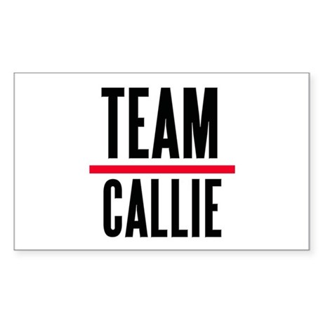 Team Callie Grey's Anatomy Sticker (Rectangle)