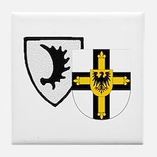 Cute Teutonic knights Tile Coaster