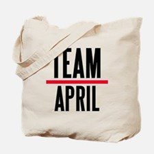 Team April Grey's Anatomy Tote Bag