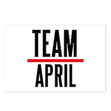 Team April Grey's Anatomy Postcards (Package of 8)