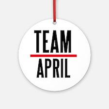 Team April Grey's Anatomy Ornament (Round)