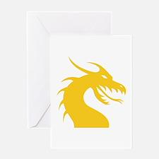 Yellow Dragon Head Greeting Card