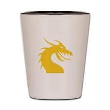 Yellow Dragon Head Shot Glass