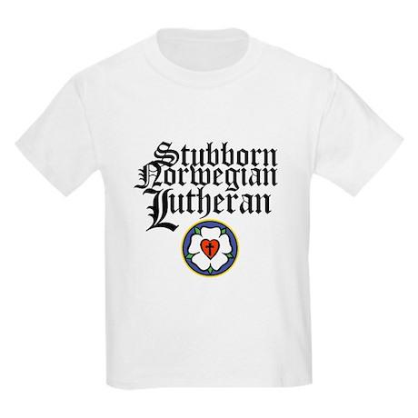 Stubborn Norwegian Lutheran Kids Light T-Shirt