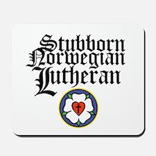 Stubborn Norwegian Lutheran Mousepad