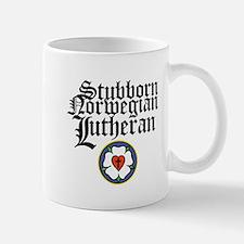 Stubborn Norwegian Lutheran Small Small Mug