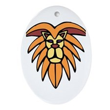 Lion King Of The Jungle Ornament (Oval)