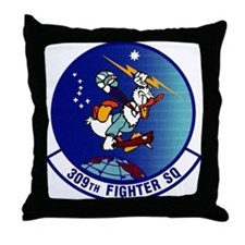 308th Fighter Squadron Throw Pillow