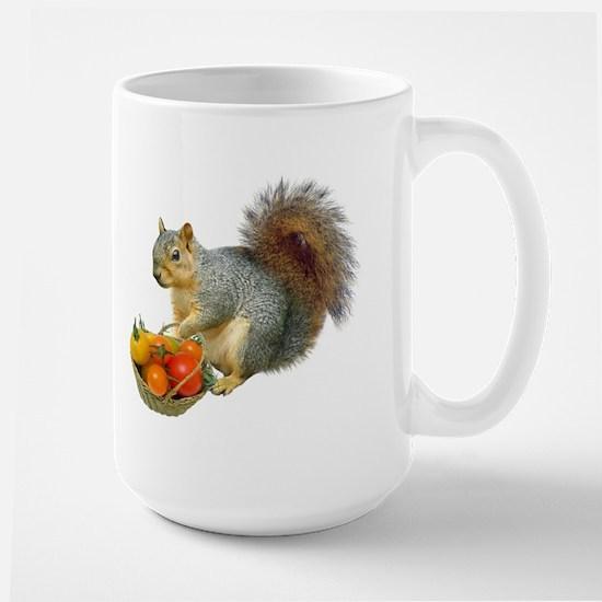 Squirrel Tomato Basket Large Mug