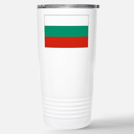 Bulgarian Flag Stainless Steel Travel Mug