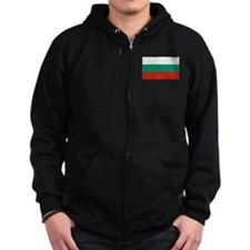 Bulgarian Flag Zip Hoody
