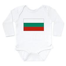 Bulgarian Flag Long Sleeve Infant Bodysuit