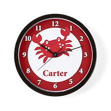 Cute Red Crab Wall Clock